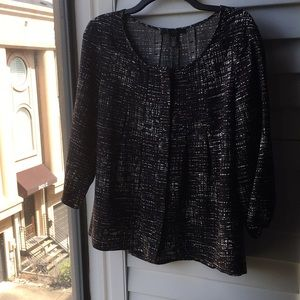 Never worn black and white print Kenneth Cole top